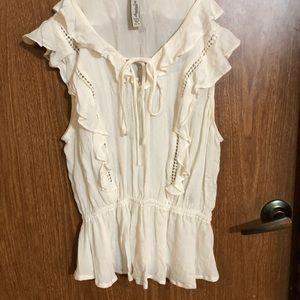 White romantic boho Mori blouse Strega frilly top